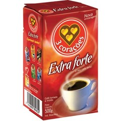 CAFE PO VACUO 500G 3 CORACOES EXT FORTE