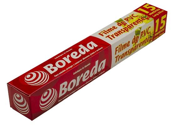 FILME PVC BOREDA 28CM X 15M