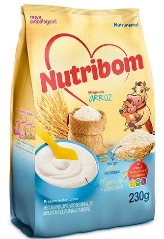 MINGAU NUTRIBOM SACHE ARROZ 230G