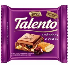CHOCOL GAROTO TALENTO  25G AMENDOAS