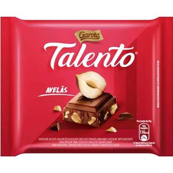 CHOCOL GAROTO TALENTO  25G AVELA