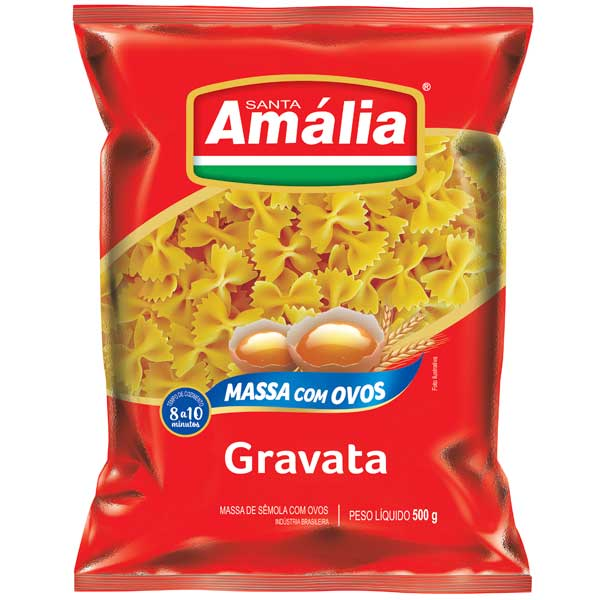 MACARRAO OVOS S AMALIA 500G GRAVATA