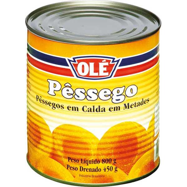 PESSEGO CALDA OLE LATA 450G