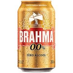 CERVEJA LATA 350ML BRAHMA Z ALCOOL