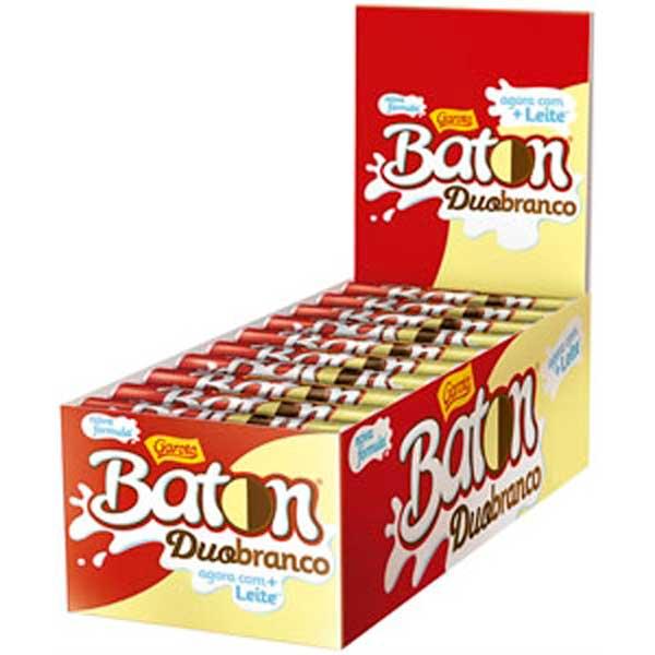 CHOCOL GAROTO BATON 16G DUO BRANC/PRETO