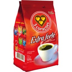 CAFE PO PCT 500G 3 CORACOES EXTRA FORTE