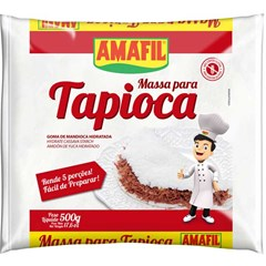 MASSA TAPIOCA FECULA HIDR  AMAFIL 500G