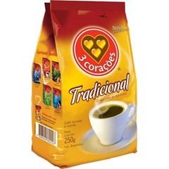 CAFE PO PCT 250G 3 CORACOES TRADICIONAL