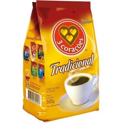 CAFE PO PCT 500G 3 CORACOES TRADICIONAL