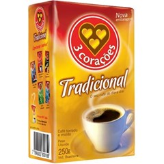 CAFE PO VACUO 250G 3 CORACOES TRADIC