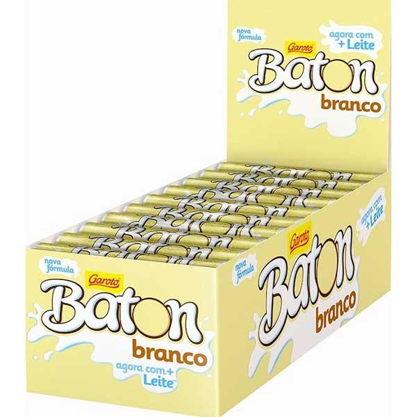 CHOCOL GAROTO BATON 16G BRANCO
