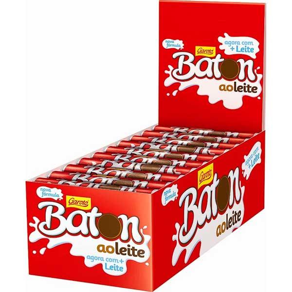 CHOCOL GAROTO BATON 16G PRETO AO LEITE