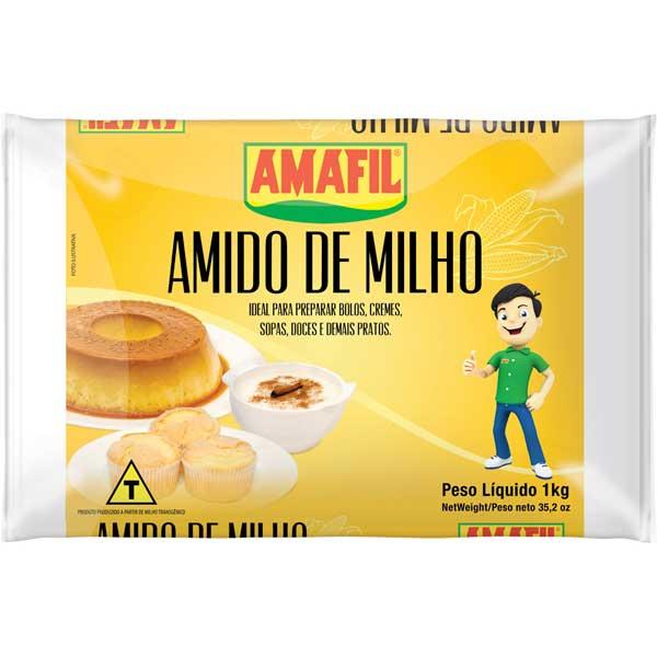 AMIDO MILHO AMAFIL 1KG PLASTICO