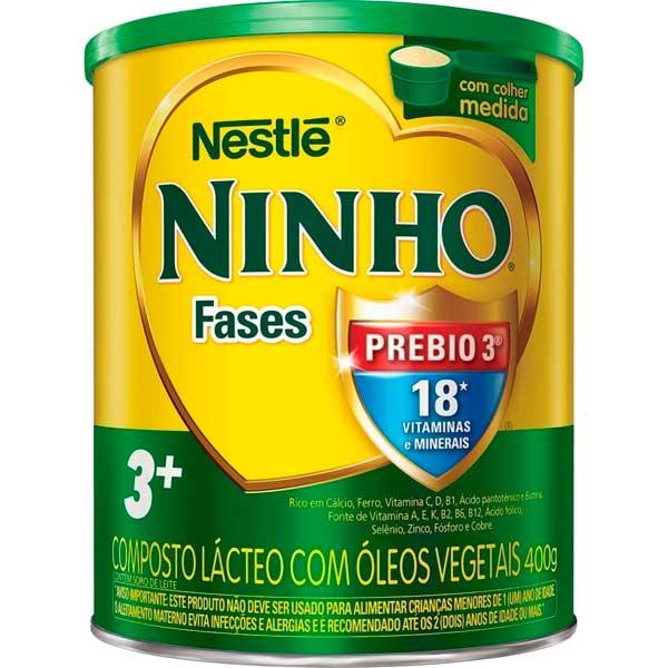 COMPOSTO LACTEO LT NINHO FASES+3 400G