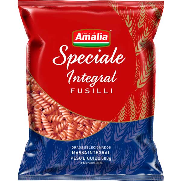 MACARRAO INTEGRAL S AMALIA PARAFUSO 500G