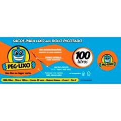 SACO LIXO ROLO PEG LIXO AZUL 100L 20UN