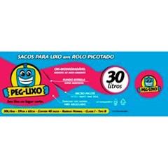 SACO LIXO ROLO PEG LIXO AZUL  30L 40UN
