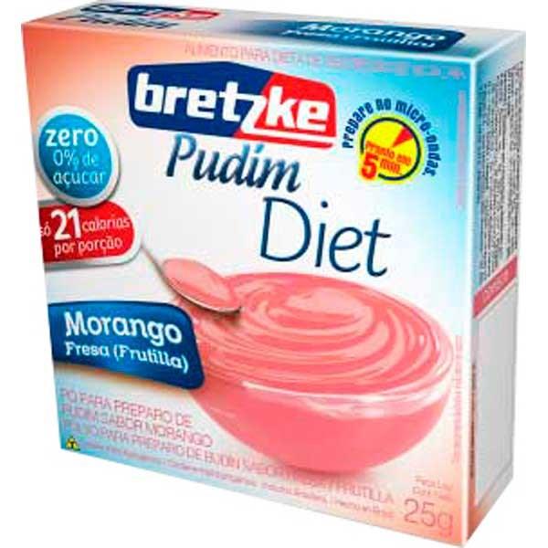 PUDIM DIET BRETZKE 25G MORANGO