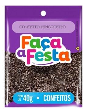 F FESTA CONFEITO  40G BRIGADEIRO