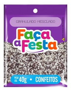 F FESTA CONFEITO  40G GRANULADO MESCLADO
