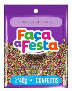 F FESTA CONFEITO  40G MIÇANGA 4 CORES