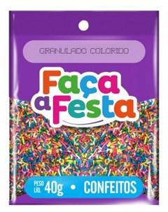 F FESTA CONFEITO  40G GRANULADO COLORID