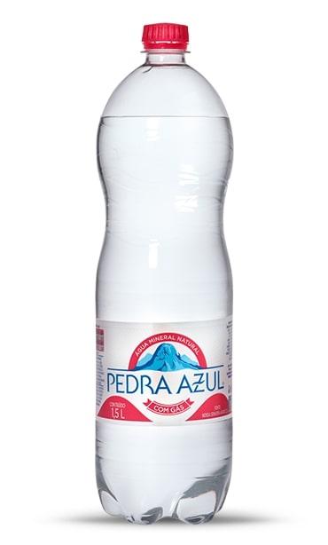 AGUA MIN PEDRA AZUL C/GAS 1.5L