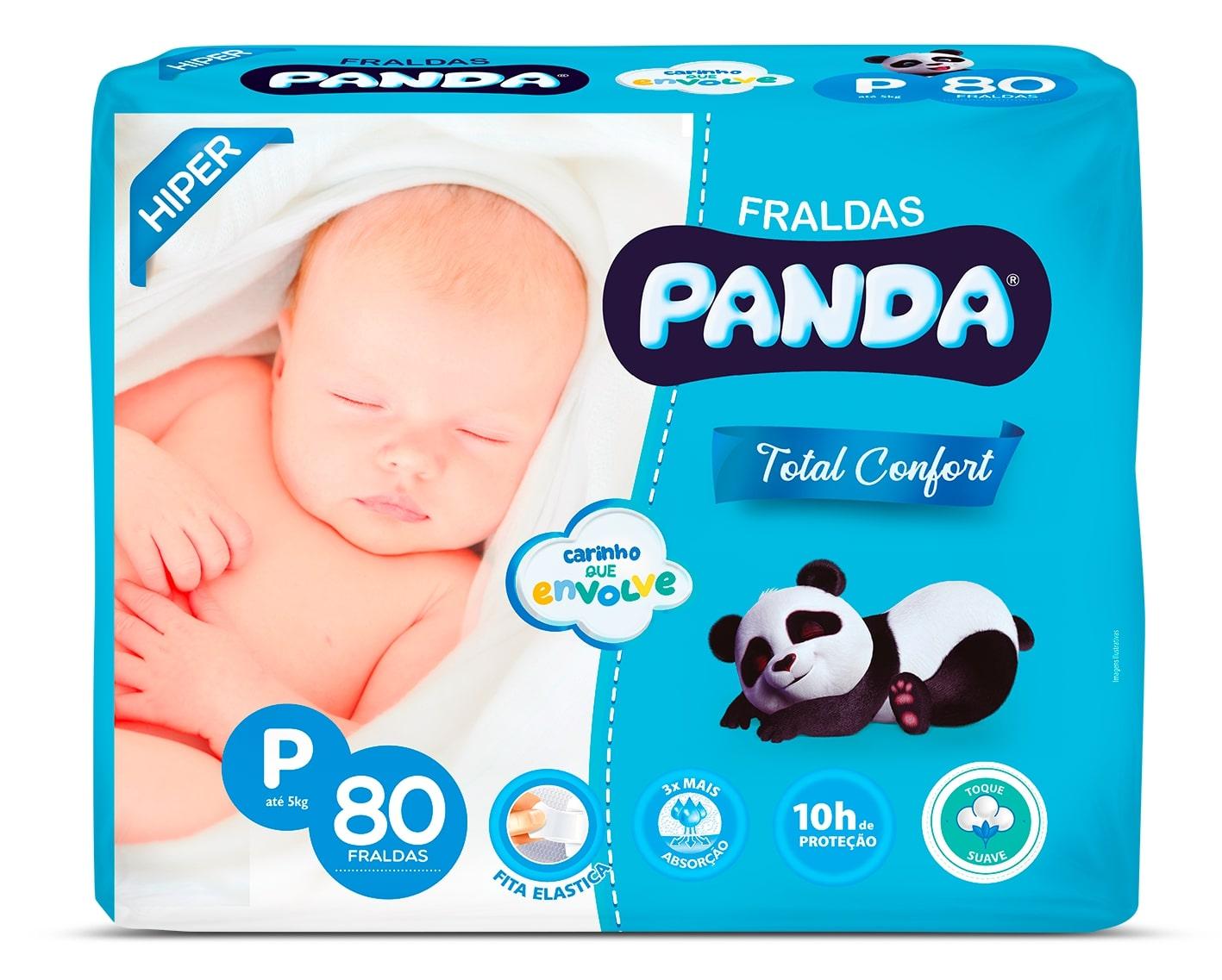FRALDA PANDA T MACIO HIPER P 80UN