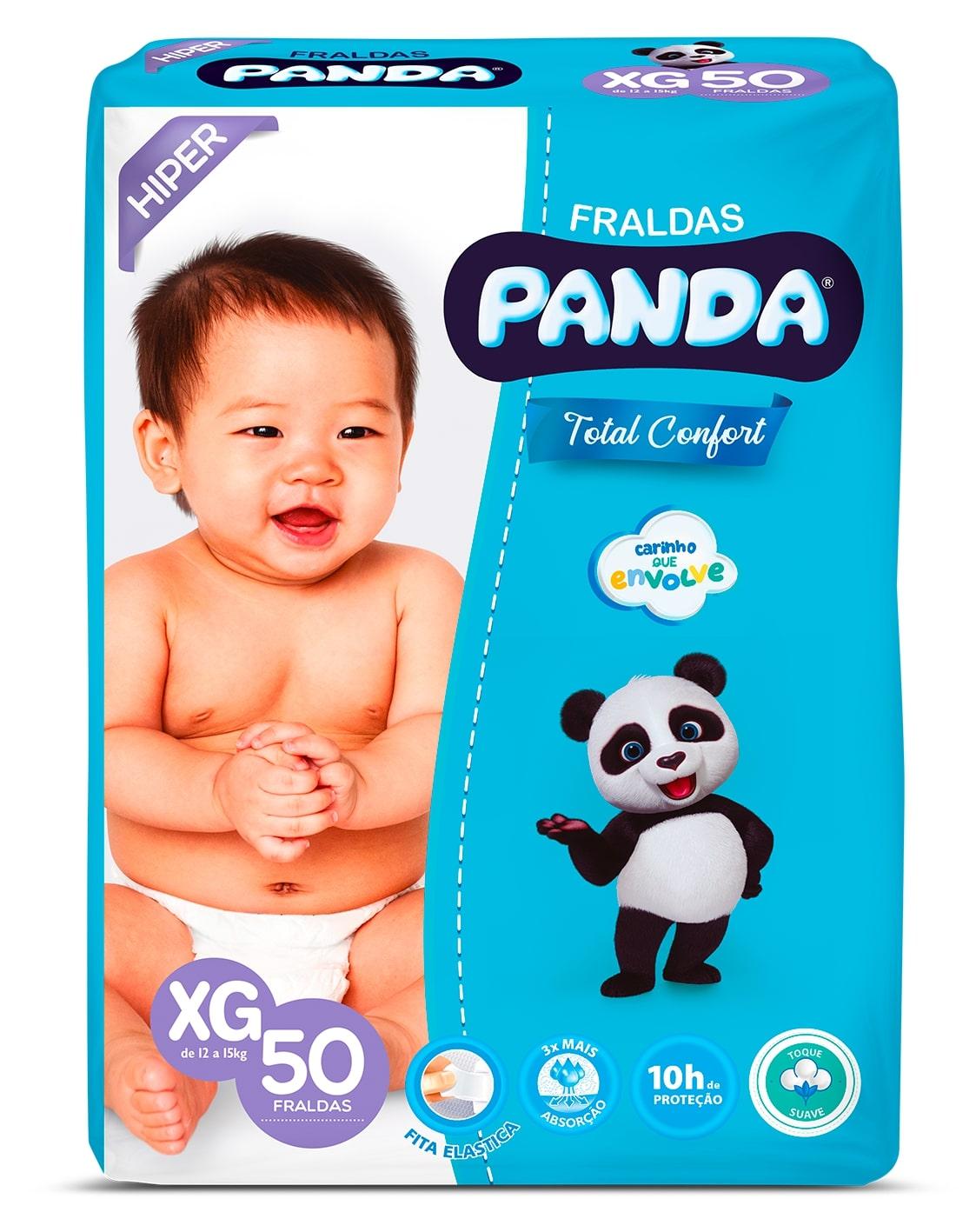 FRALDA PANDA T MACIO HIPER XG 50UN