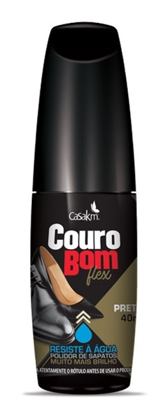 COURO BOM LIQUIDO 40ML FLEX PRETO