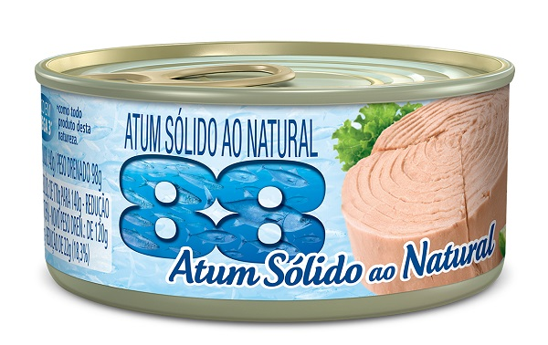 ATUM 88 SOLIDO 140G AO NATURAL