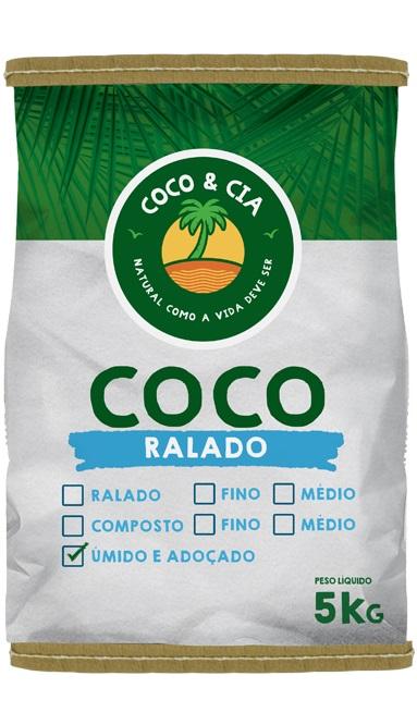 COCO RALADO 5KG COCO&CIA UMIDO E ADOCADO