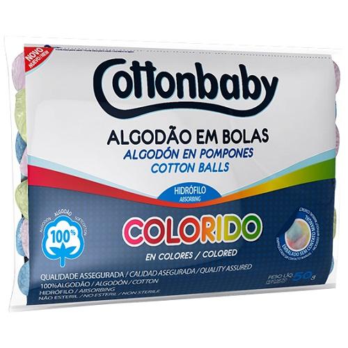 ALGODAO COTTONBABY PCT 50G BOLA COLORID