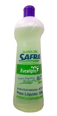 ALCOOL GEL 46,2 G 500G SAFRA EUCALIPTO