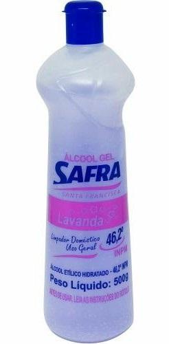 ALCOOL GEL 46,2 G 500G SAFRA LAVANDA