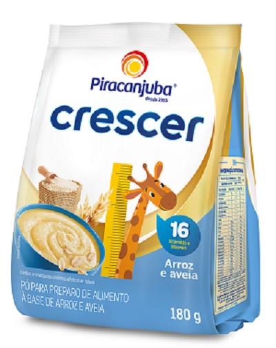 MINGAU CRESCER PIRAC SH ARROZ/AVEIA 180G
