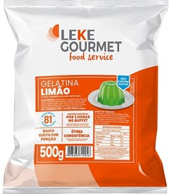 GELATINA LEKE GOURMET 500G LIMAO